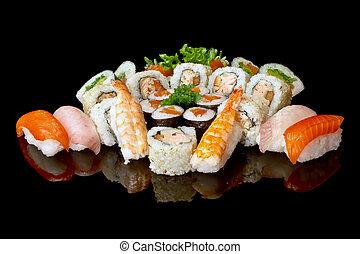 variety of sushi - variety of japanese sushi