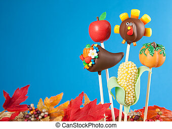 Thanksgiving cake pops - Variety of Thanksgiving cake pops...
