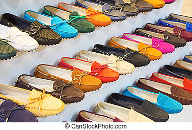 colorful leather shoes