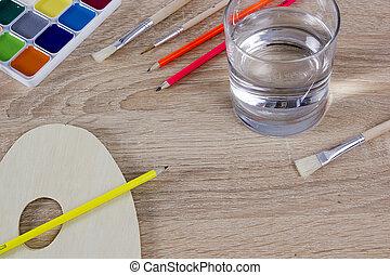Variety of tools will artist