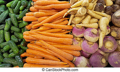 variety of vegetables at market