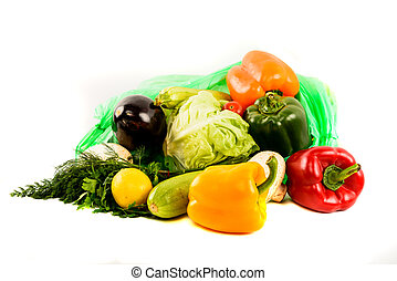 variety of vegetables isolated on white