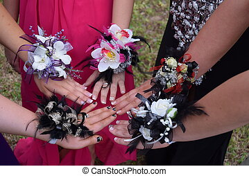 Variety of Wrist Corsages