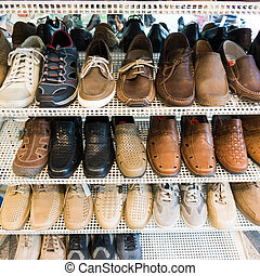 Variety Shoes in the Shop.