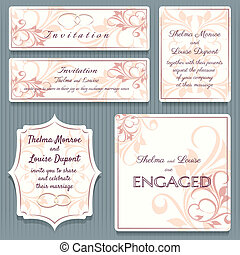 Variety Wedding Invitation Card Elemets