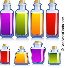 vario, bottiglie, collezione