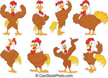 vario, cartone animato, gallo
