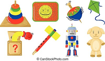 vario, generi, di, giocattoli