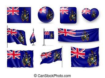 vario, georgia sud, bandiere, isole