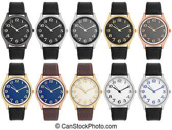vario, selección, reloj de pulsera