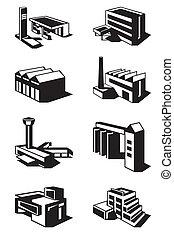 vario, tipi, di, costruzione