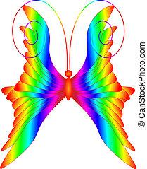 variopinto, farfalla