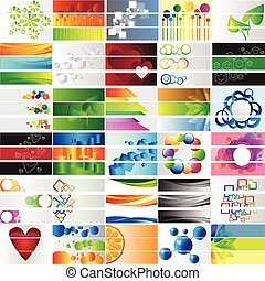 Various 90 colorful banners - vector collection for design
