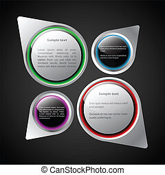 Various abstract bubbles with text