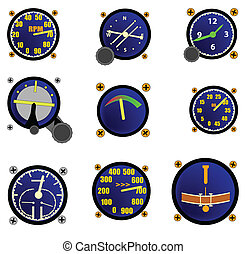 Various Aircraft Gauges