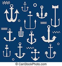 Various Anchor Collection - for your logo, design, scrapbook - in vector