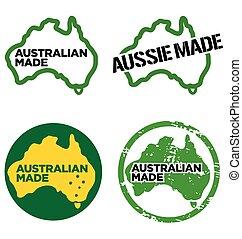 Various Australian made logos vector