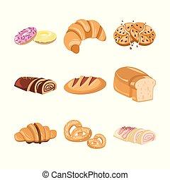 Various Bakery Cake Illustration Set