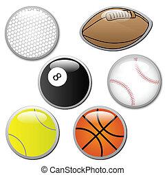 Various Ball Buttons