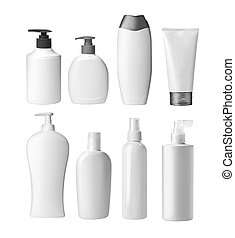 various beauty containers