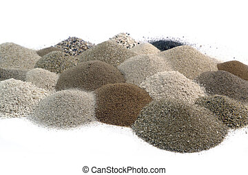 various brown toned sand piles together - multicolored brown...