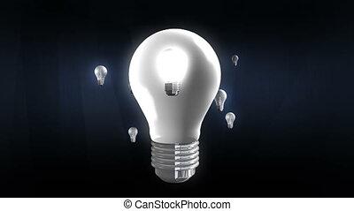 Various bulb light move around bulb light.(included alpha)