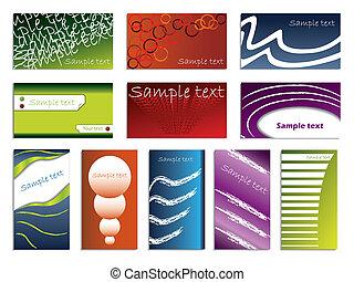 Various business card set