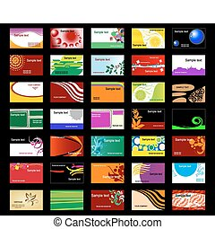 Various business cards - Set of various business cards for ...