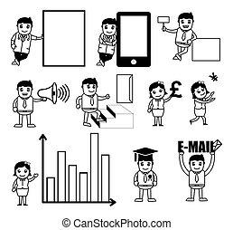 Various Business Cartoon Graphics