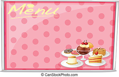 various cake menu