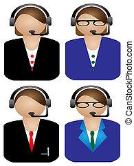 various Call operator on white back