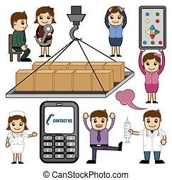Various Cartoon Concepts Vector Set