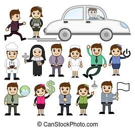 Various Cartoon People Concepts