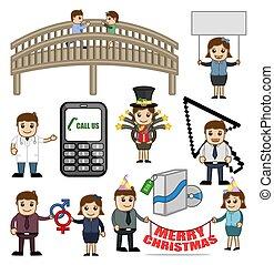 Various Cartoon Vector Graphics Illustration