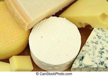 Various cheeses ,close up image