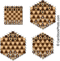 various chess table - chess table hexagonal pieces game