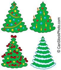 Various Christmas trees