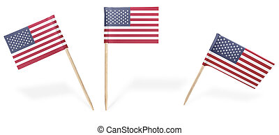 Various cocktail flags of USA isolated on white.(series) -...
