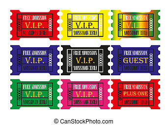 various collection of tickets