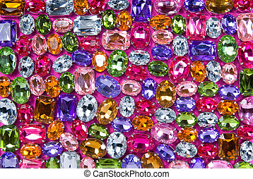 various color - background from various color shiny gems