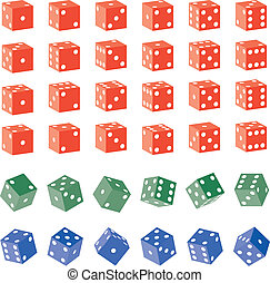 Colored Dice - Various Colored Dice
