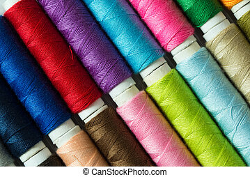 Various colored threads