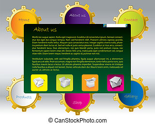 Various colored web template