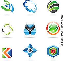 Various colorful abstract icons, Set 20