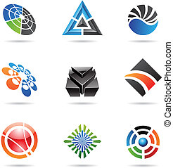 Various colorful abstract icons, Set 23 - Various colorful...