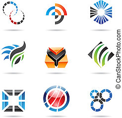 Various colorful abstract icons, Set 9