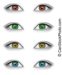 Various colors eyes