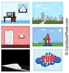 Various Comic Graphics Vectors