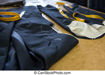 Various components of a gents jacket