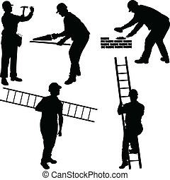 Various construction workers